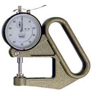Đồng hồ đo độ dày 240412, thang đo 0-10mm, đầu đo dài 100mm.