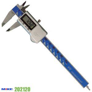Thước cặp điện tử 150 mm chống nước lạnh, cấp bảo vệ IP67, ngàm kẹp 40x16.5mm.