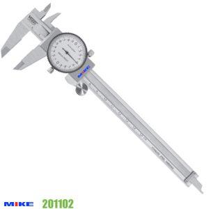 Thước cặp đồng hồ 150mm, độ chính xác trị đọc 0.02mm, vạch chia 2mm.