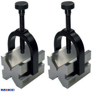Khôi V-Block thép 75x55x55mm, đường kính từ Ø5-50mm, ±0.004mm/100mm.