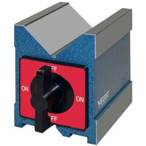 V-Block từ tính 80x70x95mm Vogel 331010, đường kính phôi Ø6 - Ø30mm.
