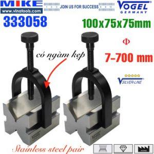 Cặp khối chuẩn 0.004 V-Block 100x75x75mm