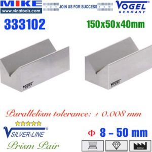 Cặp khối chuẩn V-Block Vogel - Germany 150x50x40mm