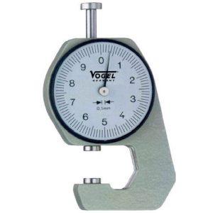 Đồng hồ đo độ dày 0-10 mm Vogel 240401, chọn lựa đầu đo F, G, H, K.