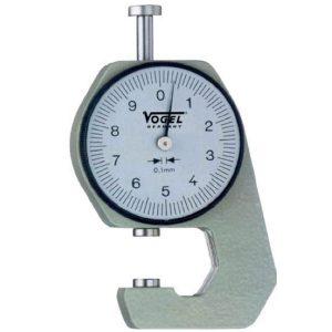 Đồng hồ đo độ dày 0-20 mm Vogel 240402, chọn lựa đầu đo F, G, H, K.