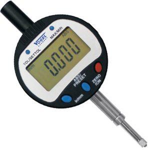 Đồng hồ so điện tử 0-25.4mm Vogel 242163, độ chính xác 0.01mm.