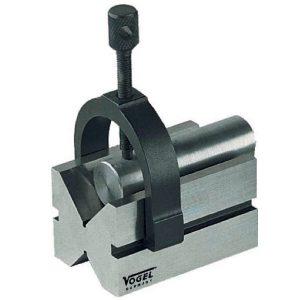 Cặp khối chuẩn V-Block 70x45x40mm, kèm theo ngàm kẹp phôi Ø5-25mm.