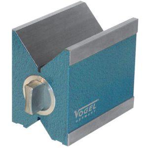 Khối V-Block 80x67x96mm từ tính, đường kính trụ tròn 6-66mm, vật liệu thép.