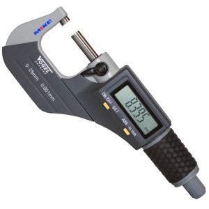 Panme điện tử 0-25mm 231061, cấp bảo vệ IP40, chống nước dạng phun sương.