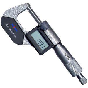Thước panme điện tử 0-25mm 231088, đo ngoài, cấp bảo vệ chống nước IP54.