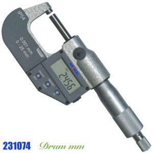 Panme điện tử 100-125mm 231074, cấp bảo vệ IP54, thang đo hệ mét, RS232.