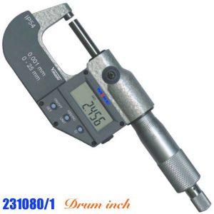 Panme điện tử 10-11 inch 231080/1, cấp bảo vệ IP54, thước phụ hệ inch, RS232.