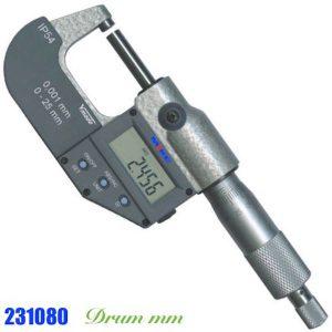 Panme điện tử 250-275mm 231080, cấp bảo vệ IP54, thang đo hệ mét, RS232.
