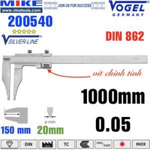 Thước cặp cơ 1000mm ngàm kẹp 150mm