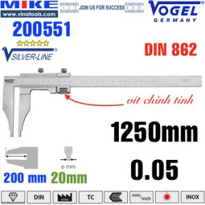 Thước cặp cơ 1250mm ngàm kẹp 200mm