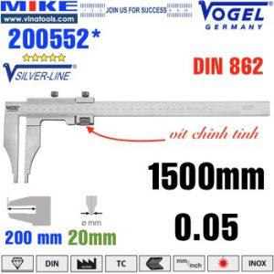 Thước cặp cơ 1500mm ngàm kẹp 200mm