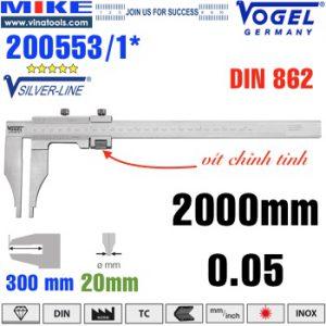 Thước cặp cơ 2000 mm ngàm kẹp 300mm