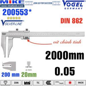 Thước cặp cơ 2000mm ngàm kẹp 200mm