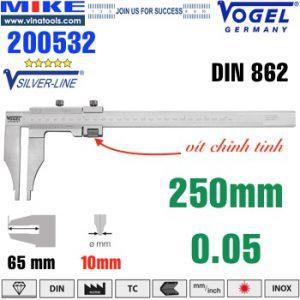 Thước cặp cơ 250mm ngàm kẹp 80mm