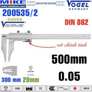 Thước cặp cơ 500mm ngàm kẹp 300mm