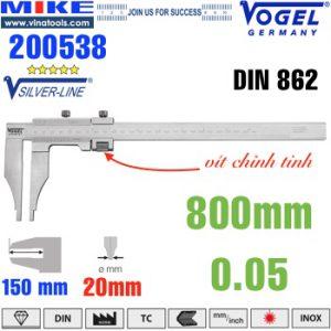 Thước cặp cơ 800mm ngàm kẹp 150mm