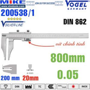Thước cặp cơ 800mm ngàm kẹp 200mm