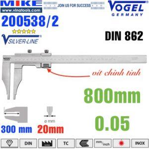 Thước cặp cơ 800mm ngàm kẹp 300mm