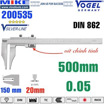 Thước cặp cơ khí 500mm ngàm kẹp 150mm