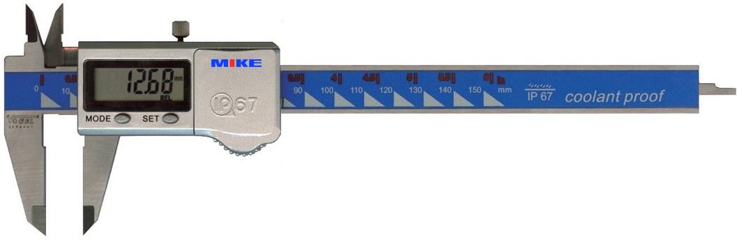 Thước cặp điện tử chống thấm nước, cấp bảo vệ IP67. Tiêu chuẩn DIN 862.