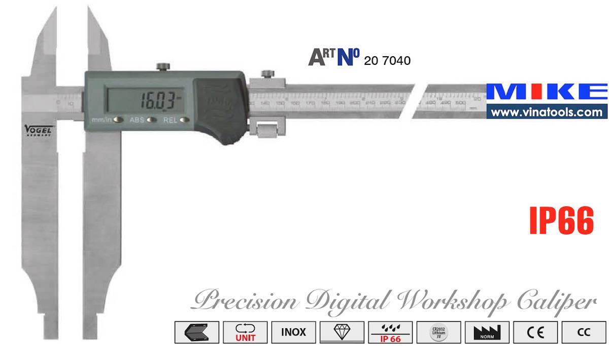 Thước cặp điện tử chống nước 500mm, IP66