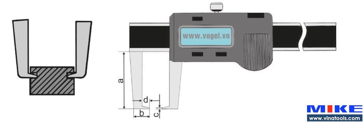 Thước cặp điện tử đo ngoài 0-500mm
