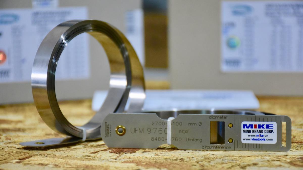 Thước đo đường kính 1500-1900mm, inox - Stainless Steel