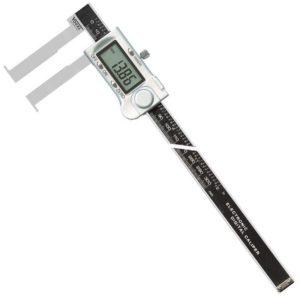 Thước cặp điện tử 25-200mm đo trong, ngàm kẹp đặc biệt dài 46mm.