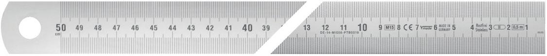 thước lá inox hướng đọc từ phải sang trái Vogel Germany.