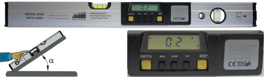 Thước thuỷ điện tử 600mm, đo góc nghiêng