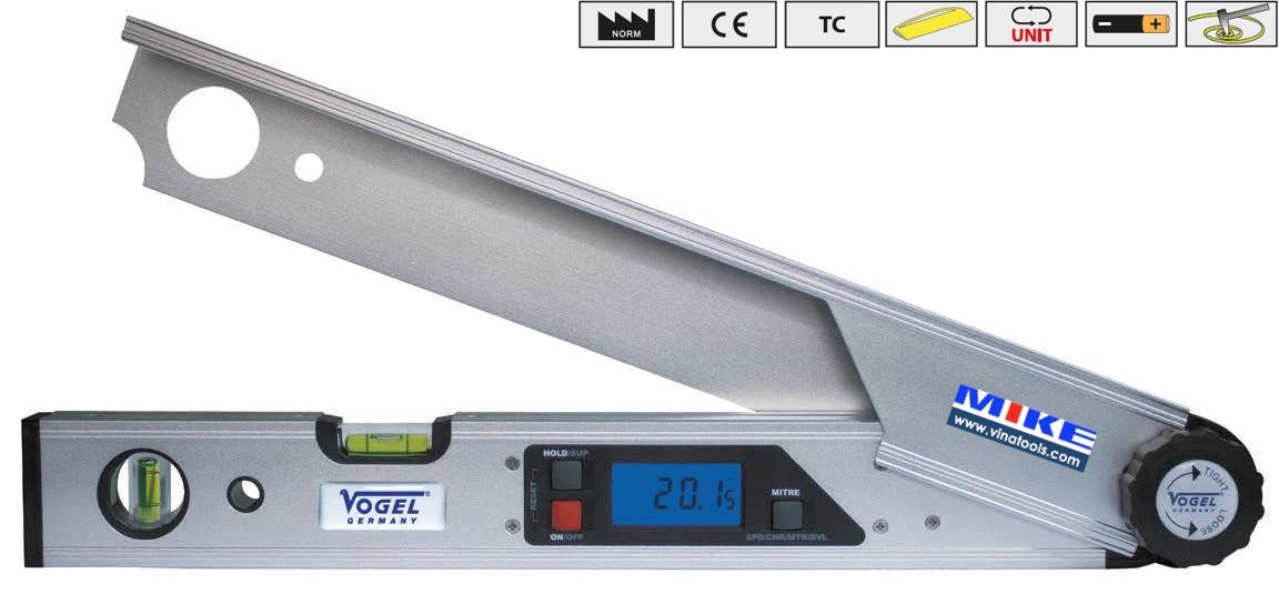 thước thuỷ điện tử đo góc