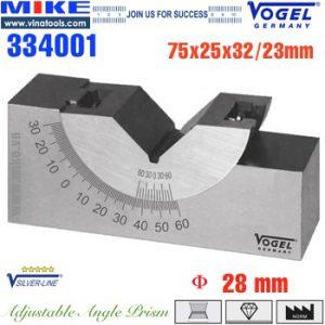 V-Block chỉnh được góc nghiêng 75x25x32/23mm