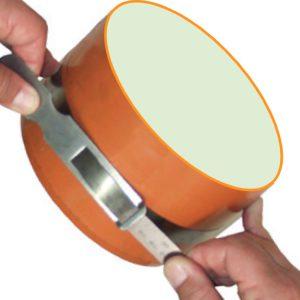 Thước đo chu vi 2190-3460mm bằng inox khắc laser, đo đường kính 700-1100mm.