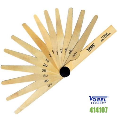Thước căn lá đồng đo khe hở 0.05-1.0 mm -20 lá. Thước nhét bằng đồng thau.