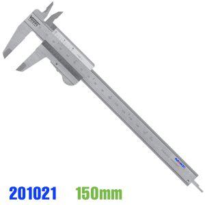 Thước cặp du xích 150mm, khóa bằng ngón cái hay khóa tự động. Vogel Germany. Vật liệu bằng inox. Độ chính xác 0.05mm. Ngàm cặp 40x16mm.