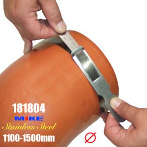 Thước đo chu vi 3450-4720mm bằng inox, đo đường kính ngoài 1100-1500mm, khắc laser.