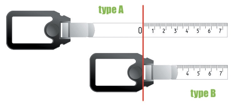thước cuộn khung nhôm Type A, Type B, đầu thước cuộn.