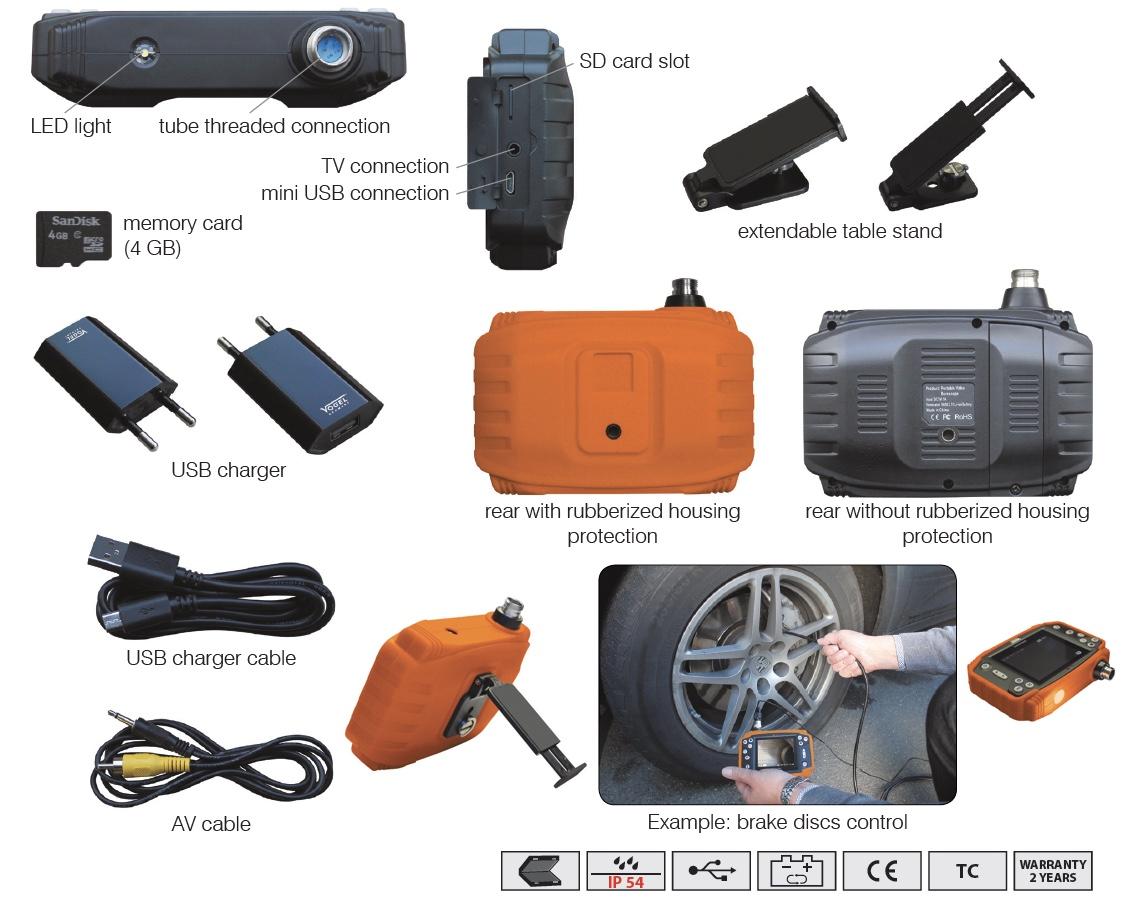 các phụ kiện của camera nội soi công nghiệp Vogel Germany.