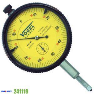 Đồng hồ so cơ 0-10mm Vogel 241119, độ chính xác 0.01mm, vạch chia 1mm.