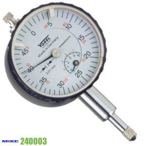 Đồng hồ so cơ 0-1mm Vogel 240003, độ chính xác 0.001mm, vach chia 0.2mm.