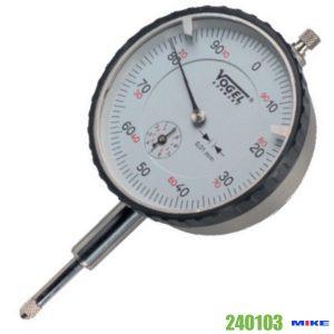 Đồng hồ so cơ 0-1mm Vogel 240103, độ chính xác 0.001mm, vạch chia 0.2mm.