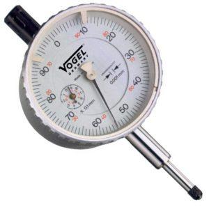 Đồng hồ so cơ 0-1.0mm Vogel 240005, độ chính xác 0.001mm, vạch chia 0.1mm.