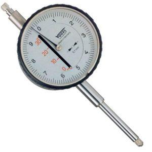 Đồng hồ so cơ 0-50mm Vogel 240031, độ chính xác 0.1mm, vạch chia 10mm.