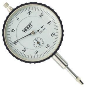Đồng hồ so cơ 0-10mm Vogel 240107, độ chính xác 0.01mm, vạch chia 1mm.