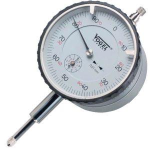 Đồng hồ so cơ 0-10mm Vogel 240131, độ chính xác 0.01mm, vạch chia 1mm.